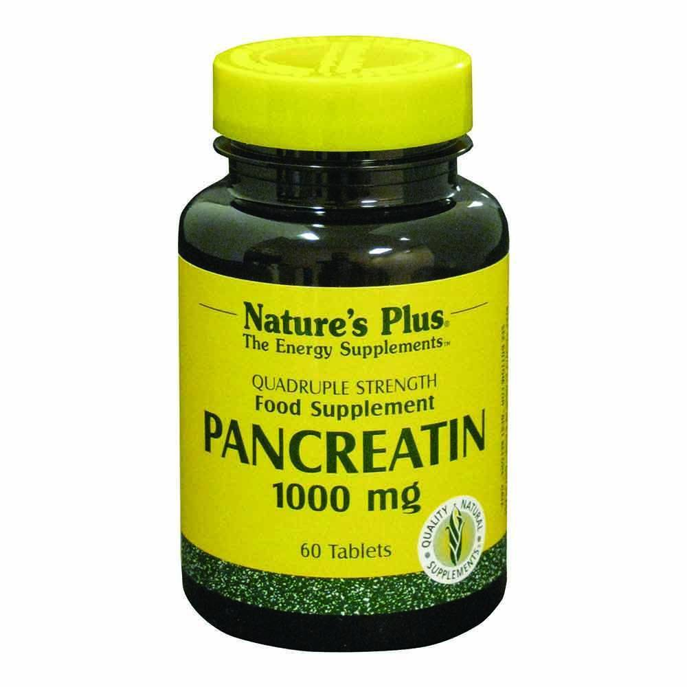Natures Plus Pancreatin 1,000 mg 60 Tablets - Lifestyle Labs