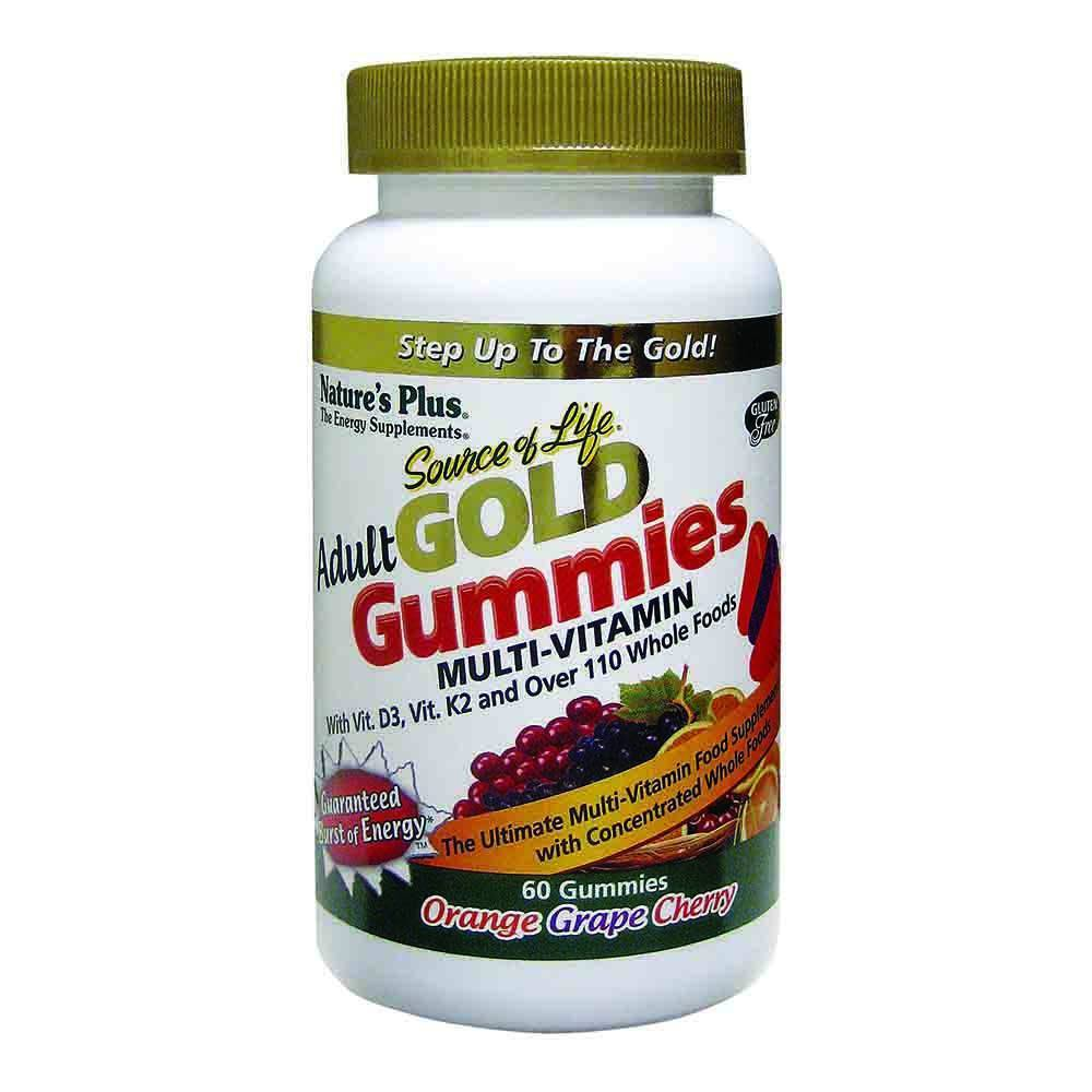 Natures Plus Source of Life Gold Adult Multivitamin 60 Gummies - Lifestyle Labs