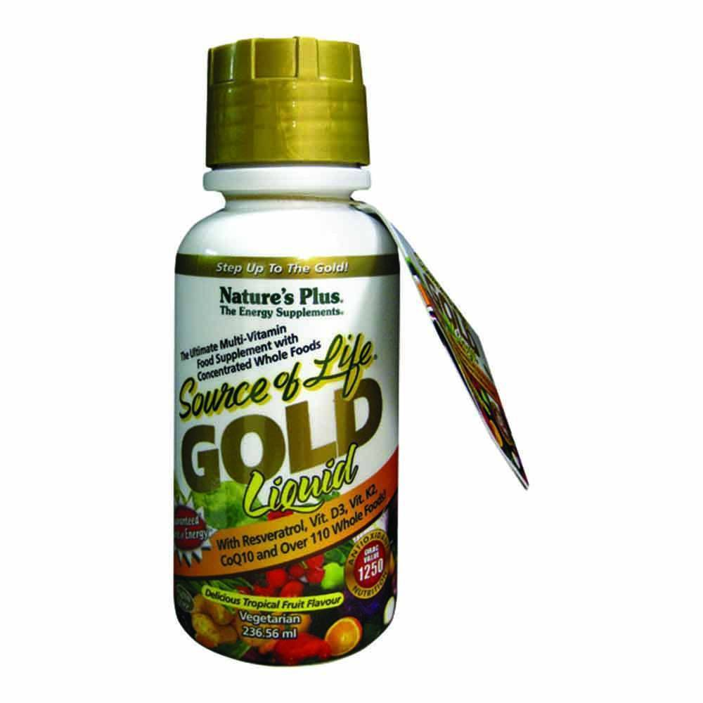 Natures Plus Source of Life Gold Multivitamin 236 ml Liquid - Lifestyle Labs