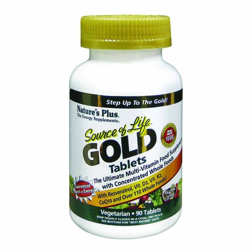 Natures Plus Source of Life Gold Multivitamin 90 Tablets - Lifestyle Labs