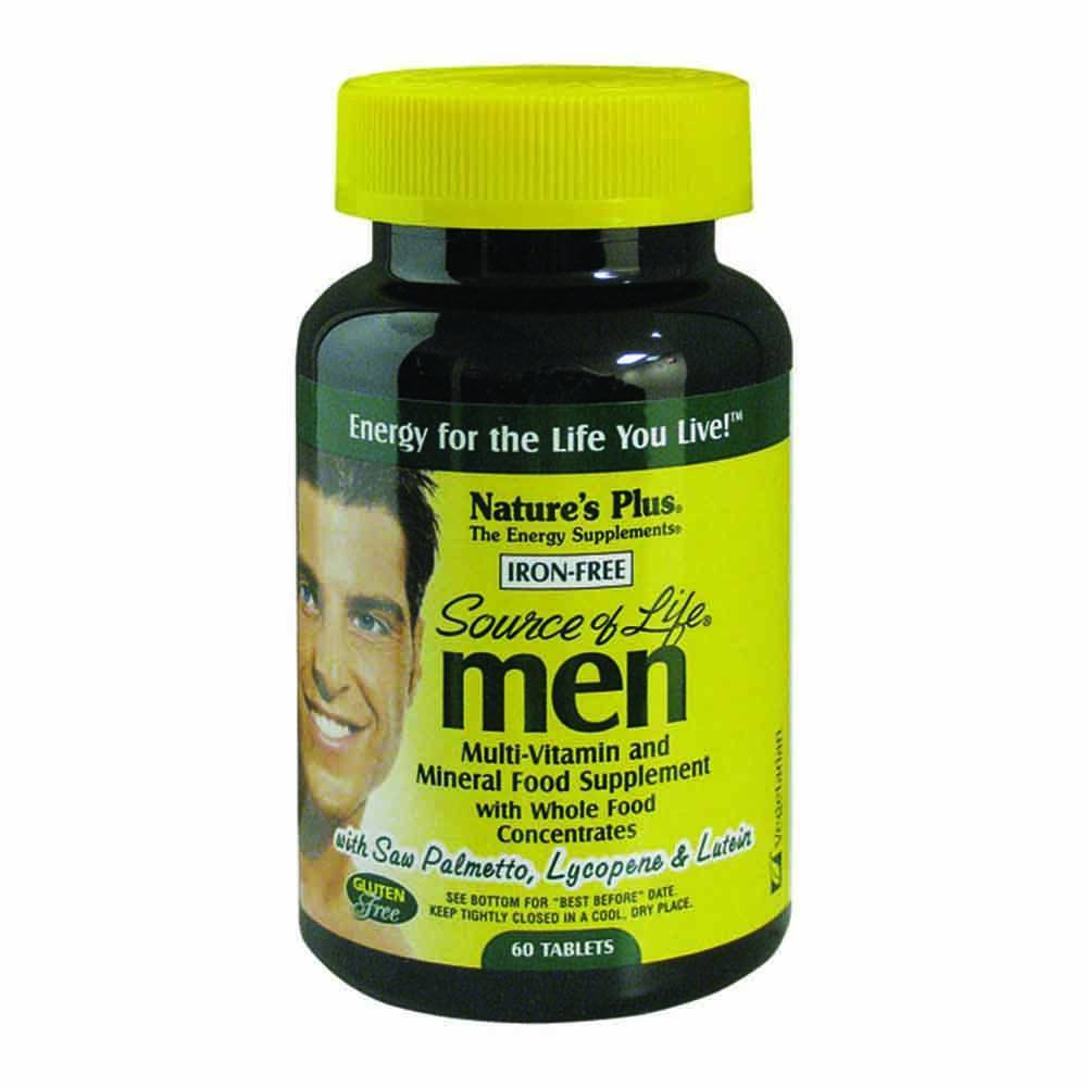 Natures Plus Source of Life Mens Multivitamin 60 Tablets - Lifestyle Labs