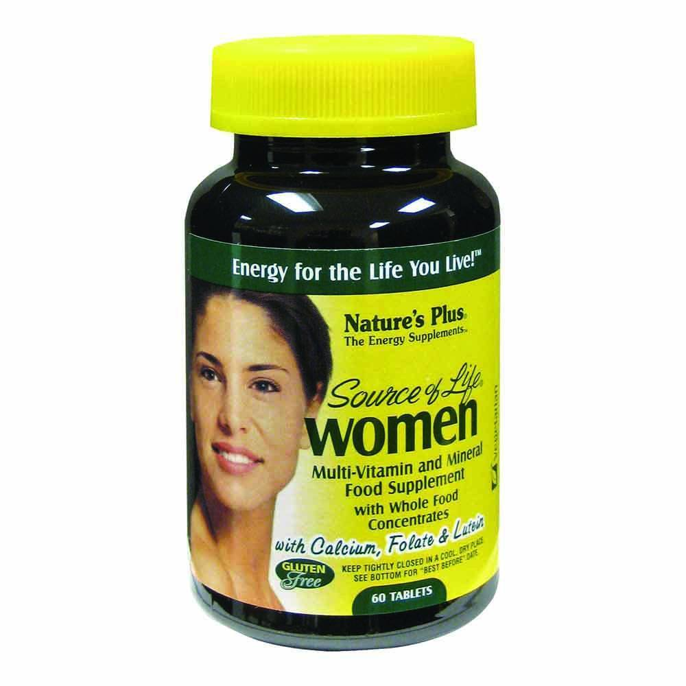 Natures Plus Source of Life Womens Multivitamin 60 Tablets - Lifestyle Labs