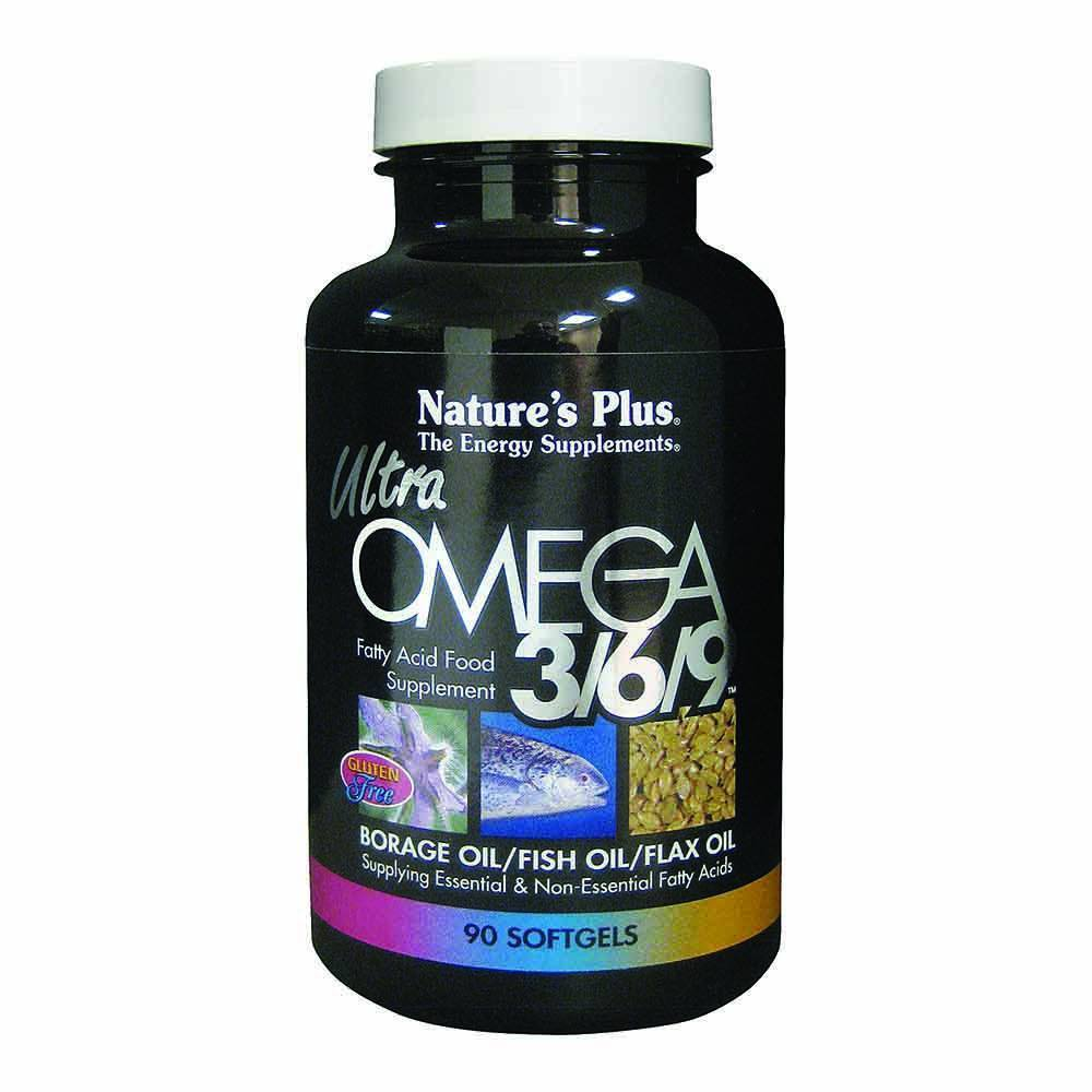 Natures Plus Ultra Omega 3/6/9 1,200 mg 90 Softgels - Lifestyle Labs