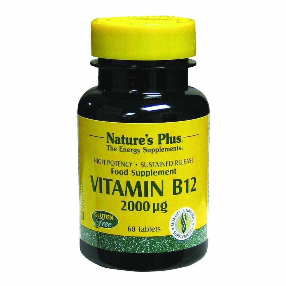 Natures Plus Vitamin B12 2,000 mcg 60 Tablets - Lifestyle Labs