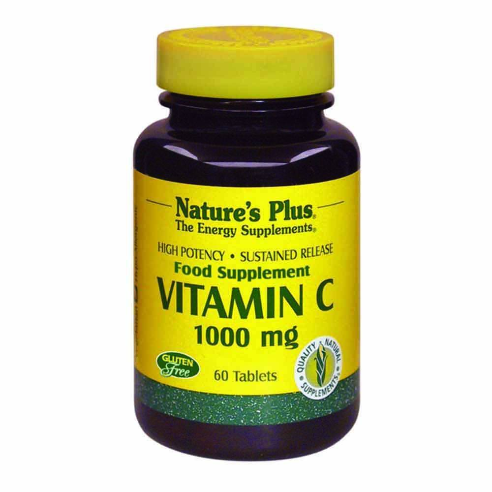 Natures Plus Vitamin C 1,000 mg 60 Tablets - Lifestyle Labs