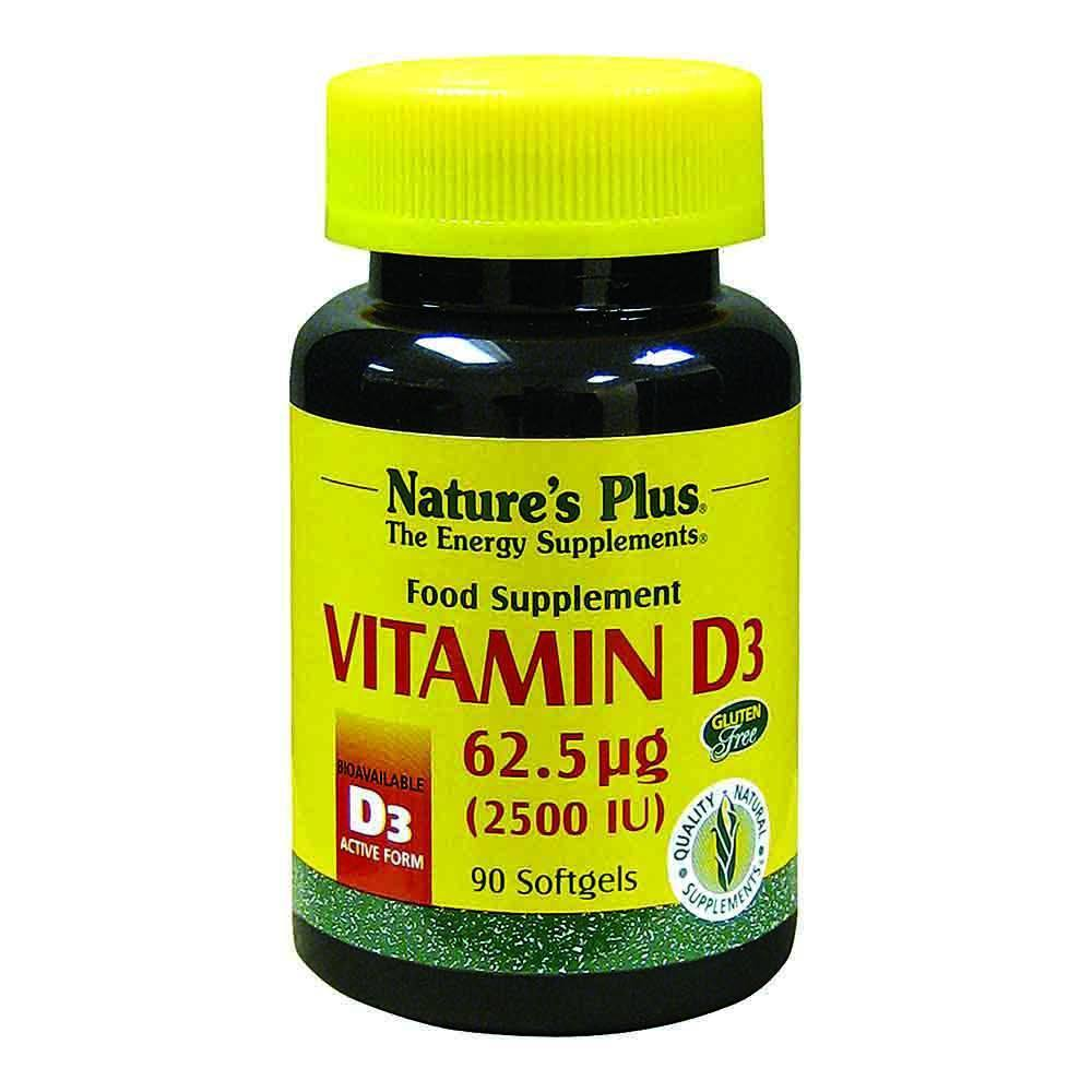 Natures Plus Vitamin D3 2,500 IU 90 Softgels - Lifestyle Labs