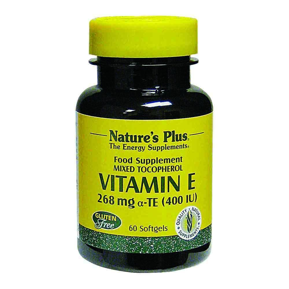 Natures Plus Vitamin E 400 IU and Mixed Tocopherol 60 Softgels - Lifestyle Labs