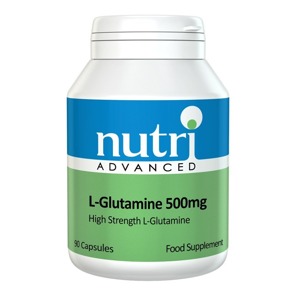 Nutri Advanced L-Glutamine 500 mg 90 Capsules - Lifestyle Labs