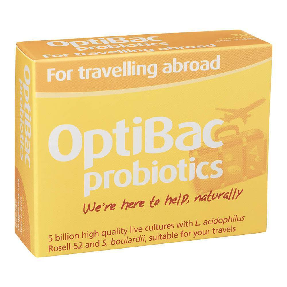 OptiBac Probiotics For Travelling Abroad 5 Billion 20 Capsules - Lifestyle Labs