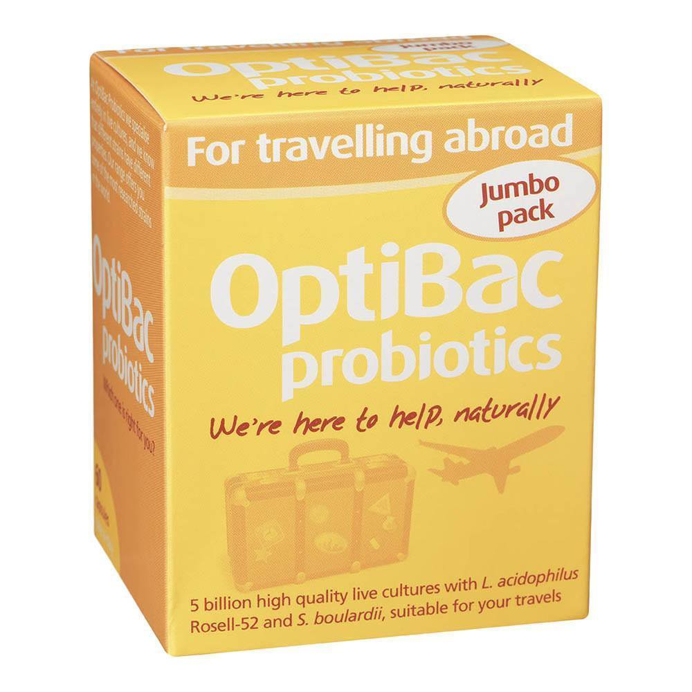 OptiBac Probiotics For Travelling Abroad 5 Billion 60 Capsules - Lifestyle Labs
