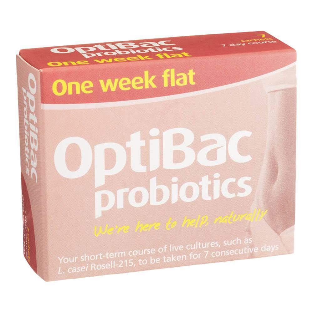 OptiBac Probiotics One Week Flat 5 Billion 7 Sachets - Lifestyle Labs