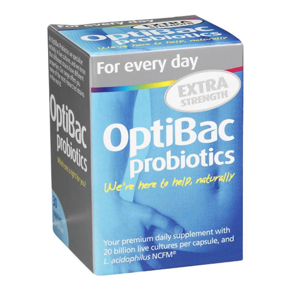 Optibac Probiotics For Every Day EXTRA Strength 20 Billion 30 Capsules - Lifestyle Labs
