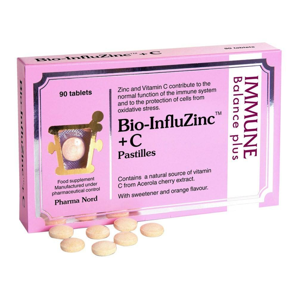 VMS - Pharma Nord Bio-InfluZinc Zinc 2.5 Mg And Vitamin C 15 Mg 90 Pastiles