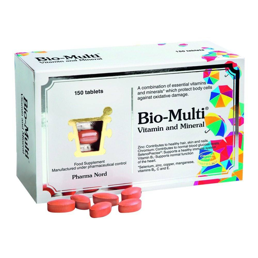 Pharma Nord Bio-Multi Vitamin and Mineral 150 Tablets - Lifestyle Labs