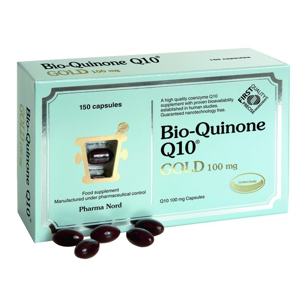 Pharma Nord Bio-Quinone Co Enzyme Q10 GOLD 100 mg 150 Capsules - Lifestyle Labs