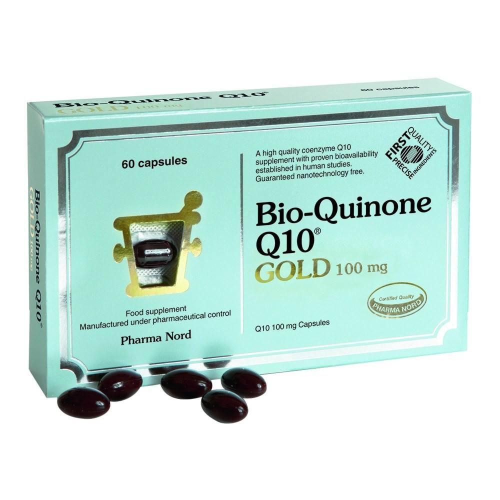Pharma Nord Bio-Quinone Co Enzyme Q10 GOLD 100 mg 60 Capsules - Lifestyle Labs