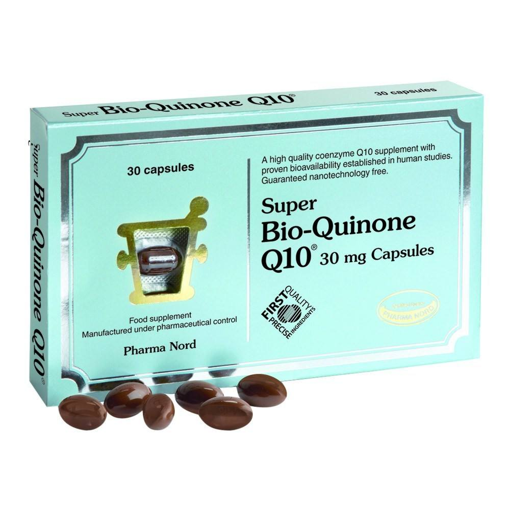 Pharma Nord Bio-Quinone Co Enzyme Q10 Super 30 mg 30 Capsules - Lifestyle Labs