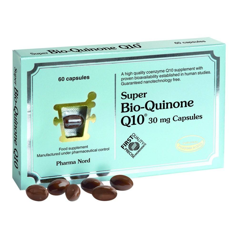 Pharma Nord Bio-Quinone Co Enzyme Q10 Super 30 mg 60 Capsules - Lifestyle Labs