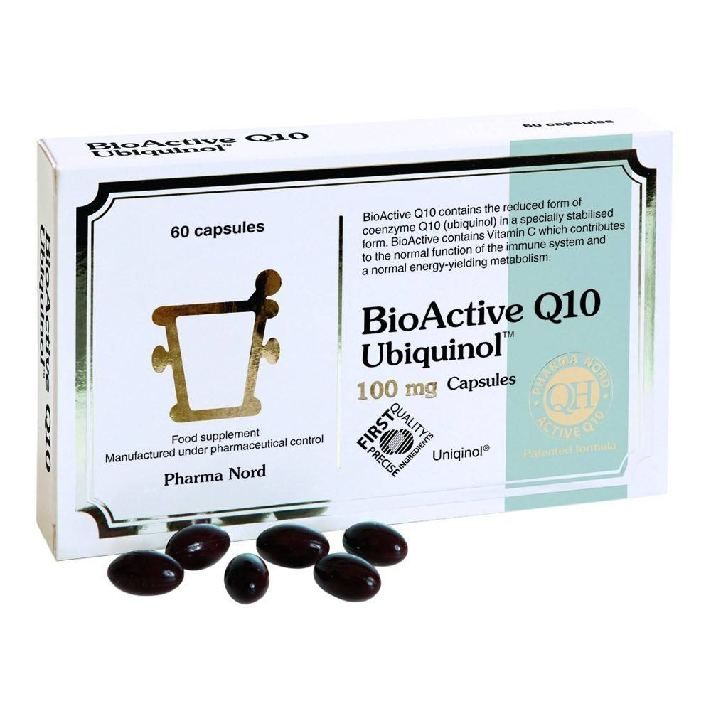 Pharma Nord BioActive Co Enzyme Q10 Ubiquinol 100 mg 60 Capsules - Lifestyle Labs