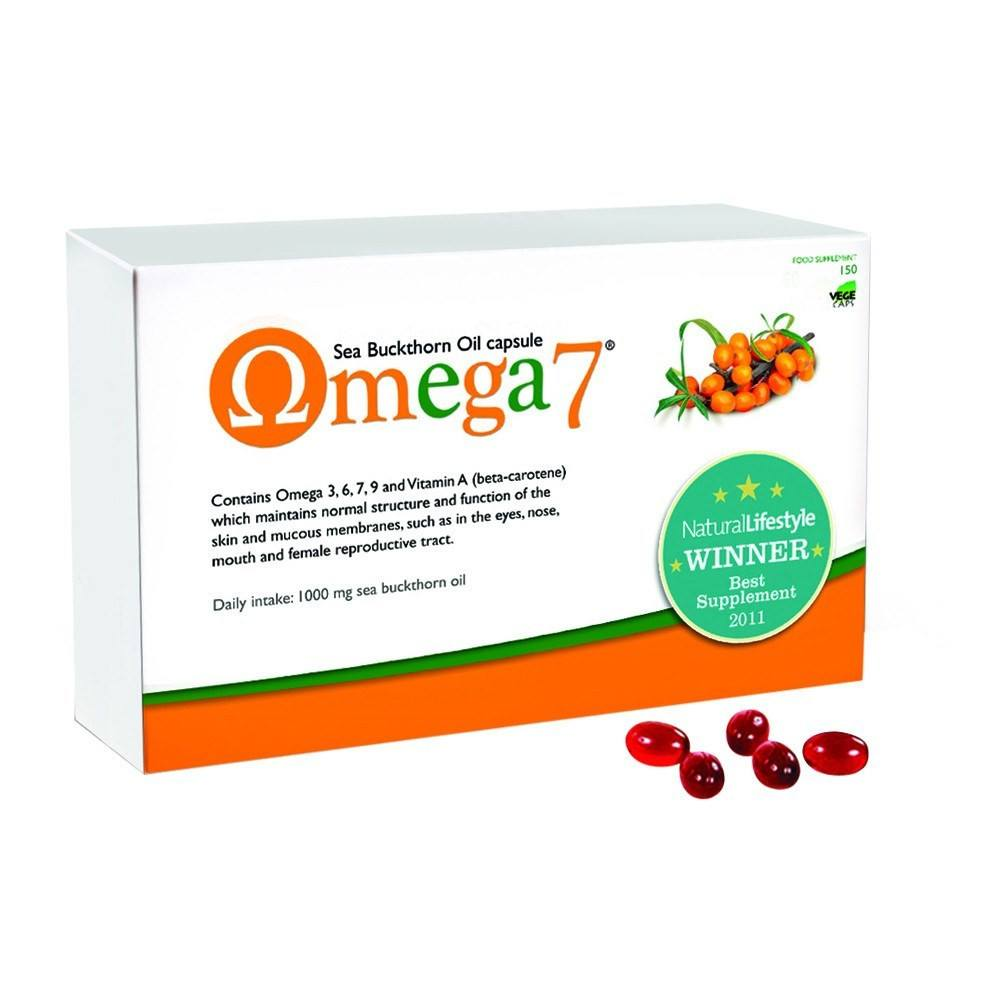 Pharma Nord Omega 7 - Sea Buckthorn Oil 500 mg 150 Capsules - Lifestyle Labs