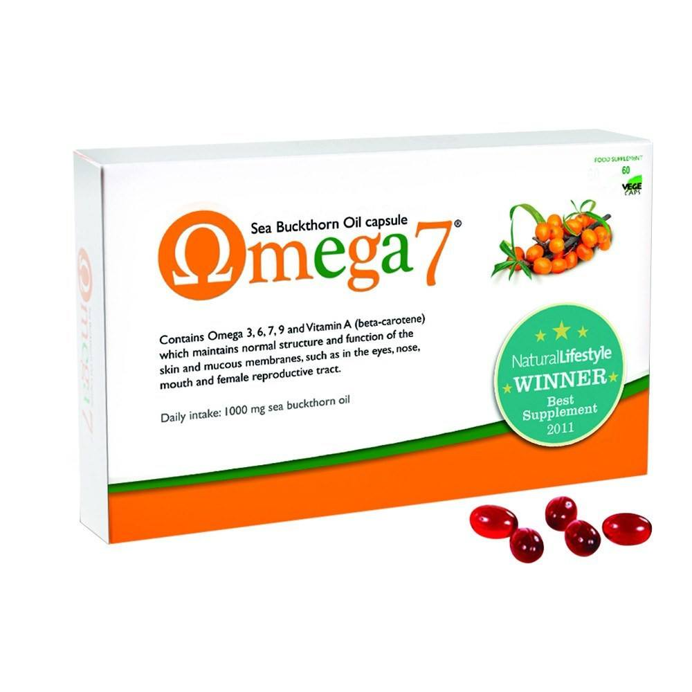 Pharma Nord Omega 7 - Sea Buckthorn Oil 500 mg 60 Capsules - Lifestyle Labs