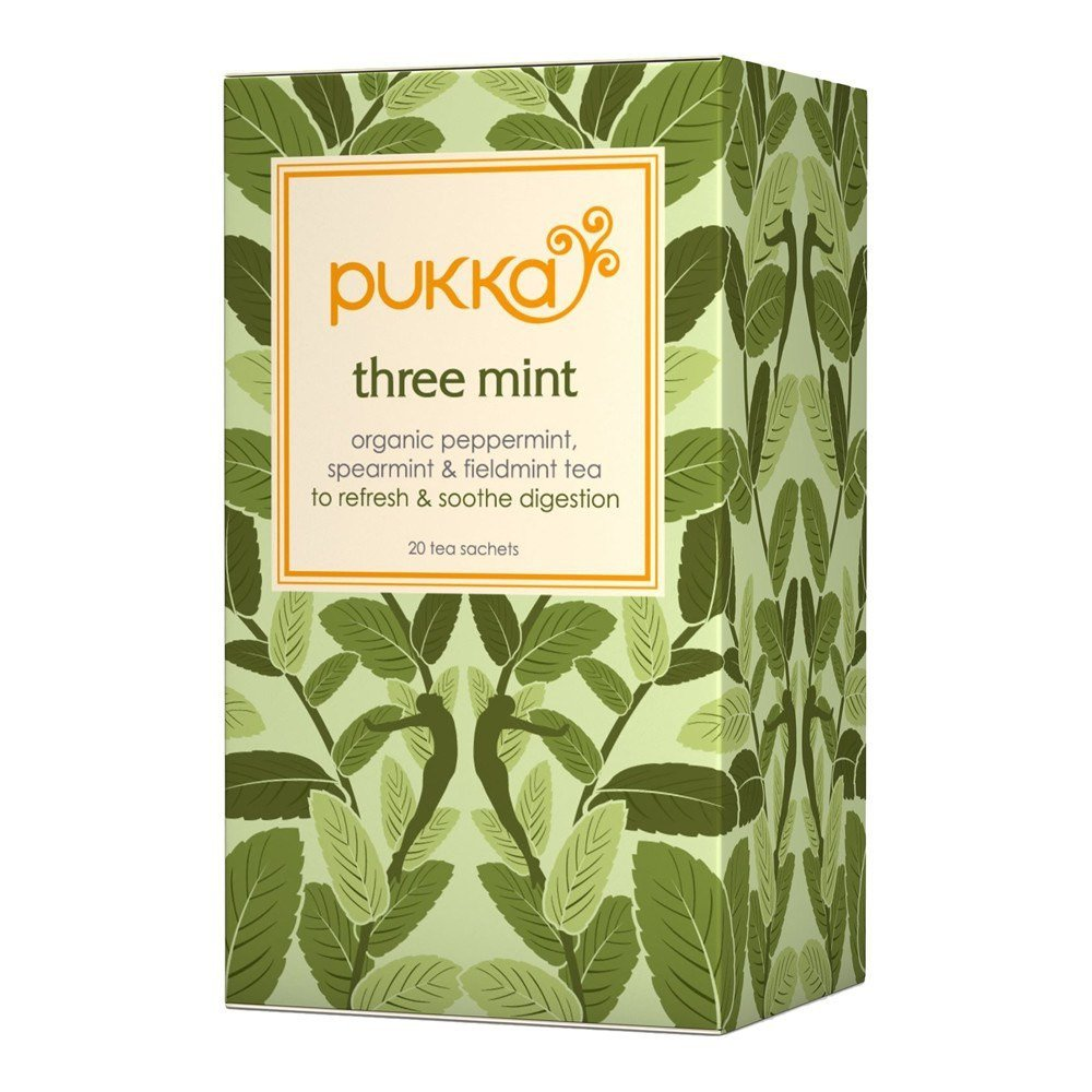 Pukka Organic Three Mint Herbal Tea 20 Teabags - Lifestyle Labs