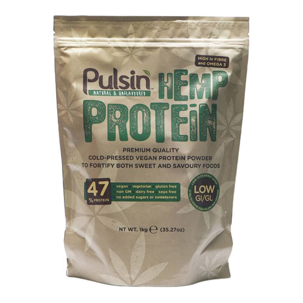 Pulsin Hemp Protein Isolate 1 kg Powder - Lifestyle Labs