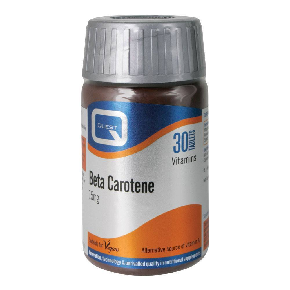 Quest Beta Carotene 15 mg 30 Tablets - Lifestyle Labs