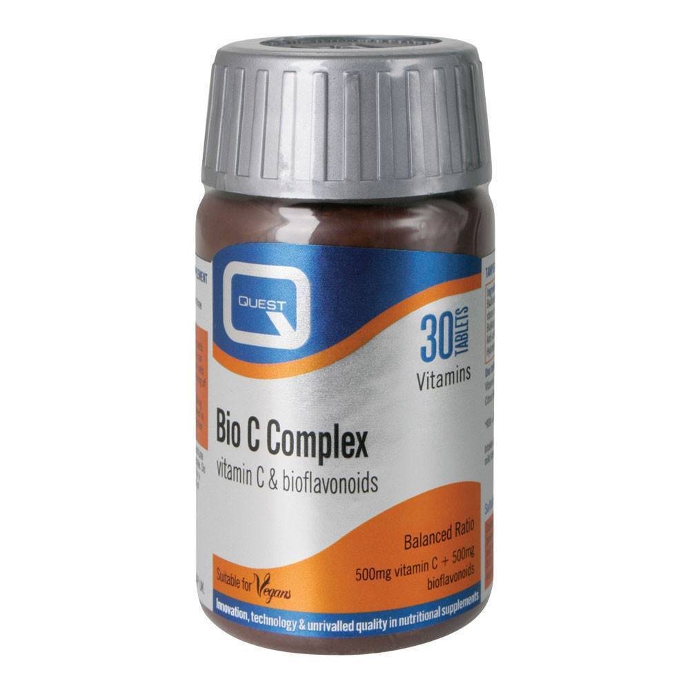 Quest Bio C Complex Vitamin C 500 mg 30 Tablets - Lifestyle Labs