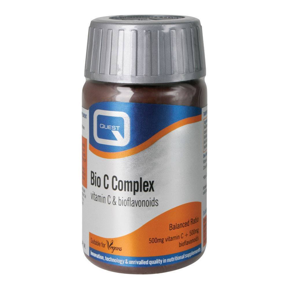 Quest Bio C Complex Vitamin C 500 mg 90 Tablets - Lifestyle Labs