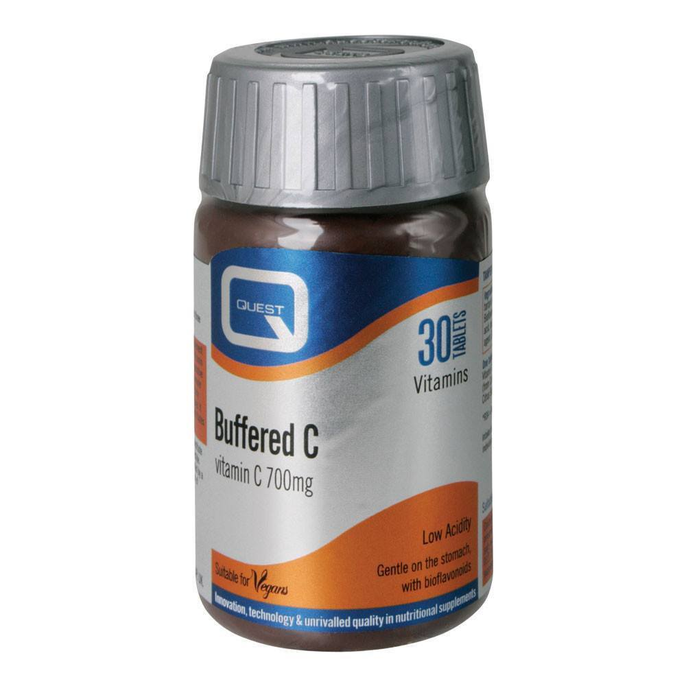 Quest Buffered Vitamin C 700 mg 30 Tablets - Lifestyle Labs