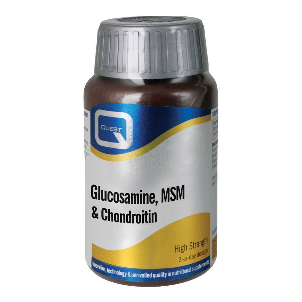 VMS - Quest Glucosamine, MSM & Chrondroitin 60 Tablets