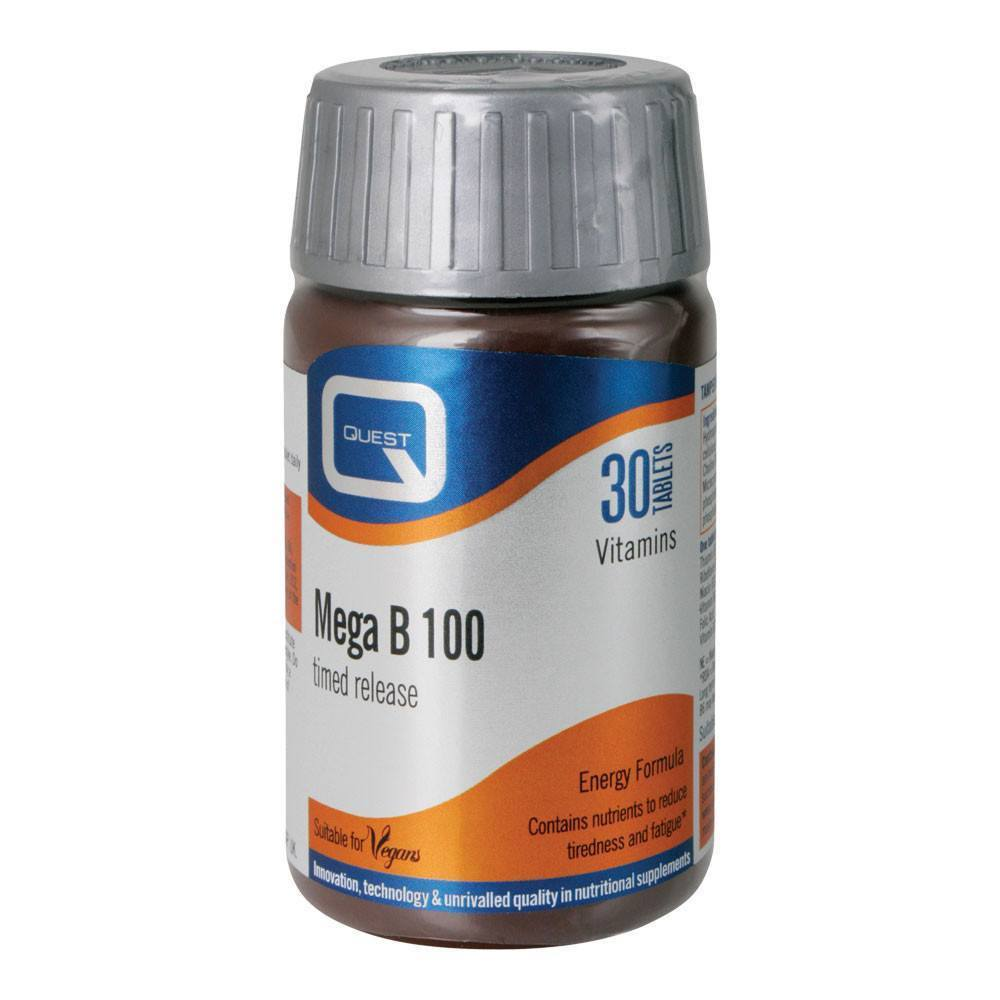 VMS - Quest Mega B 100 Energy Formula 30 Tablets