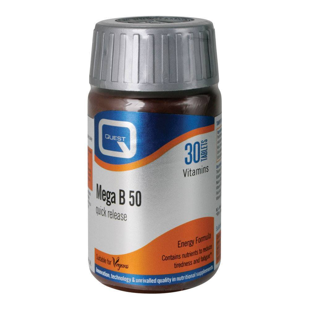 VMS - Quest Mega B 50 Energy Formula 30 Tablets