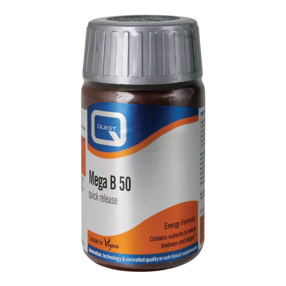 VMS - Quest Mega B 50 Energy Formula 60 Tablets