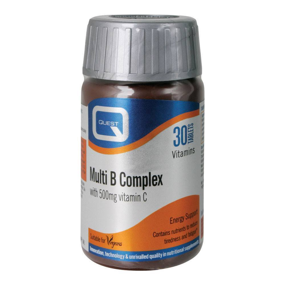 VMS - Quest Multi B Complex With Vitamin C 500 Mg 30 Tablets