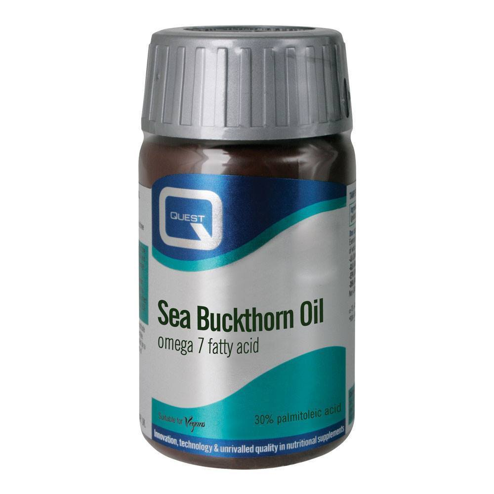 VMS - Quest Sea Buckthorn Oil Omega 7 120 Capsules