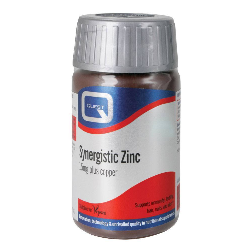 VMS - Quest Synergistic Zinc 15 Mg 90 Tablets