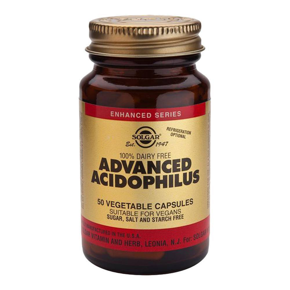 VMS - Solgar Advanced Acidophilus 500 Million 50 Capsules