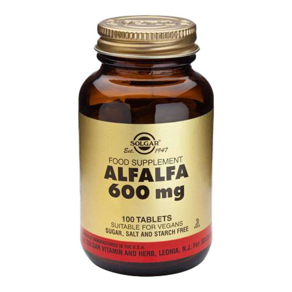 VMS - Solgar Alfalfa 600 Mg 100 Tablets