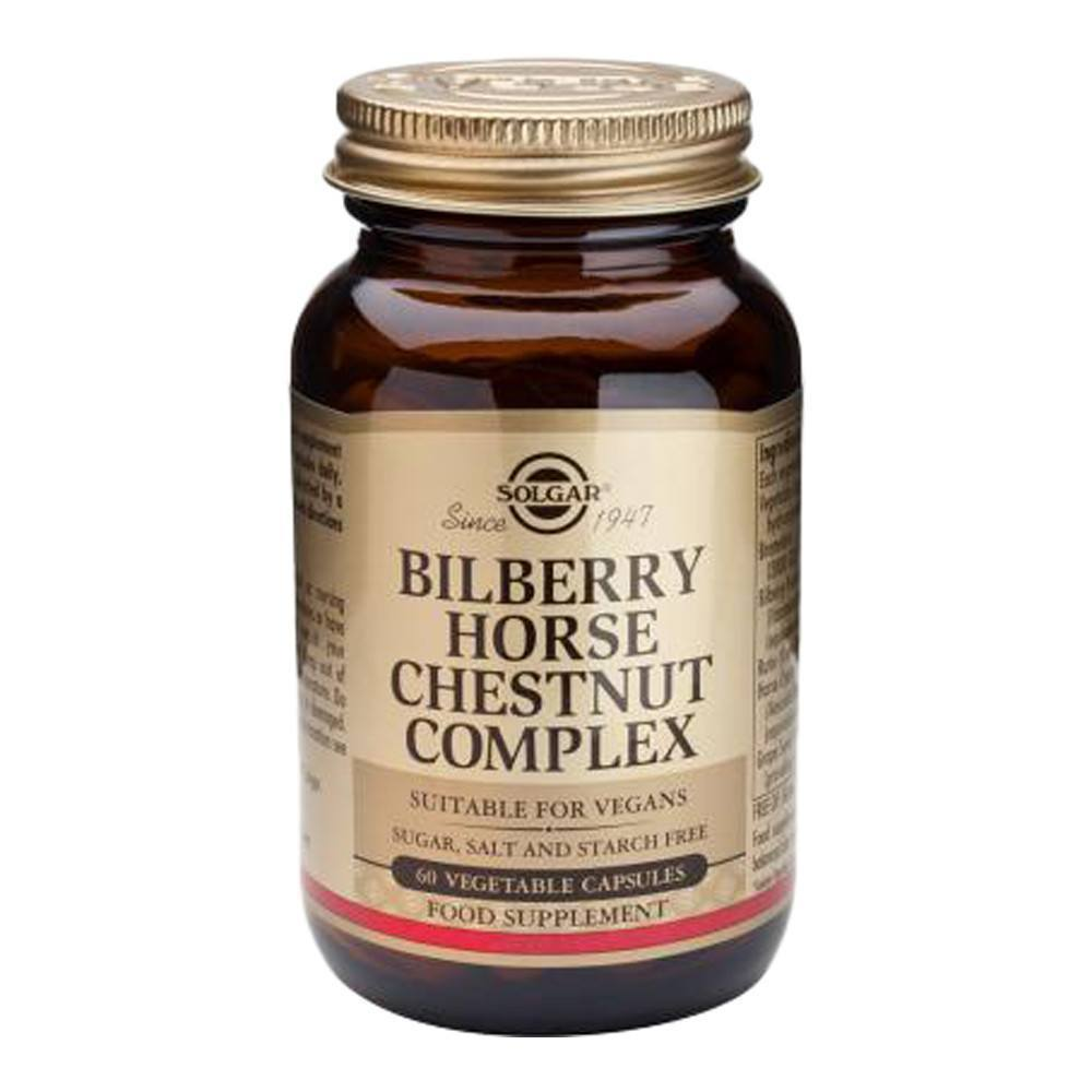 VMS - Solgar Bilberry Horse Chestnut Complex 60 Capsules