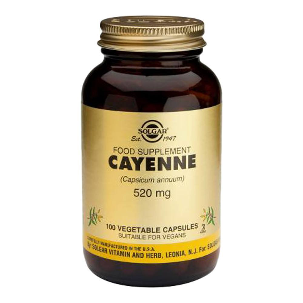 VMS - Solgar Cayenne 520 Mg 100 Capsules