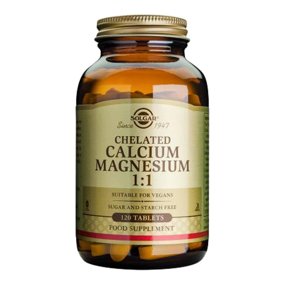 VMS - Solgar Chelated Calcium 500 Mg, Magnesium 500 Mg 1:1 120 Tablets