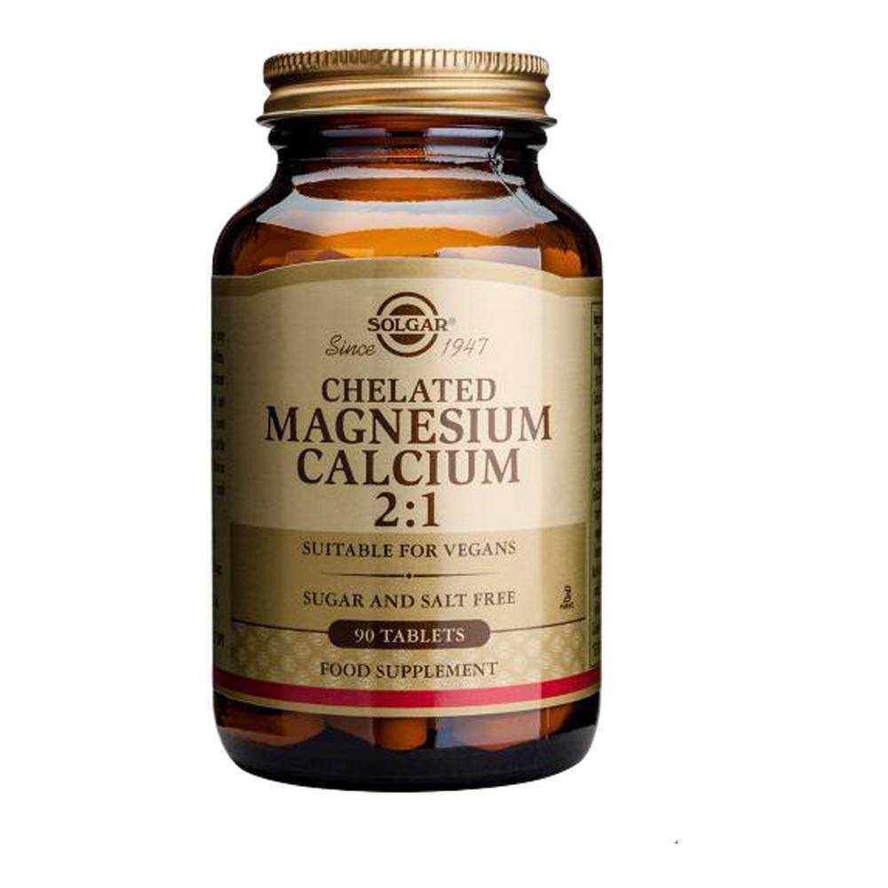 VMS - Solgar Chelated Magnesium 600 Mg Calcium 300 Mg 2:1 90 Tablets