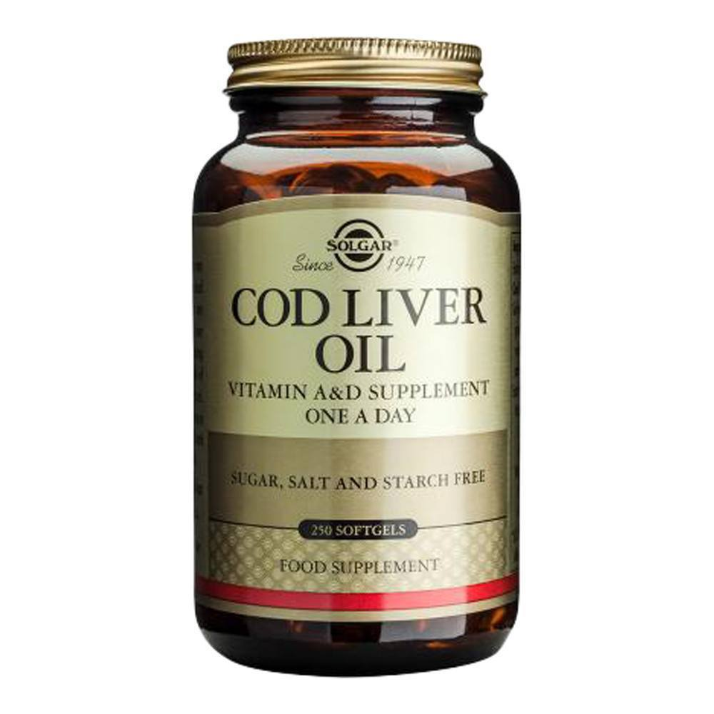 VMS - Solgar Cod Liver Oil 462 Mg 250 Softgels