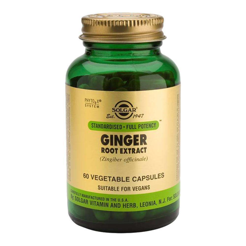 VMS - Solgar Ginger Root Extract 300 Mg 60 Capsules
