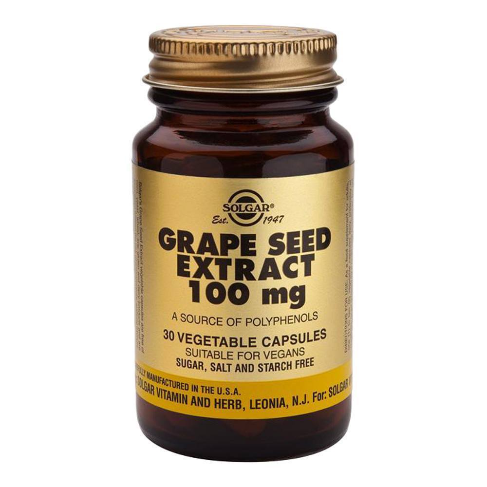VMS - Solgar Grape Seed Extract 100 Mg 30 Capsules
