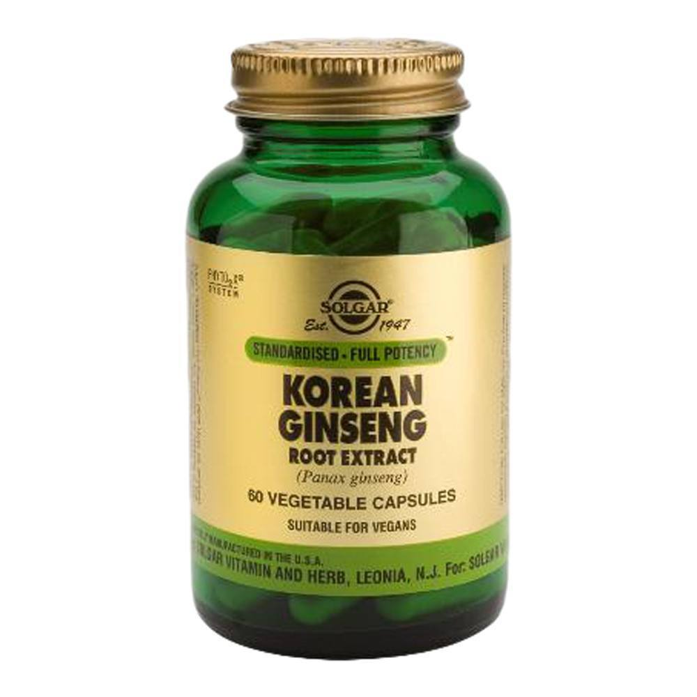 VMS - Solgar Korean Ginseng Root Extract 250 Mg 60 Capsules