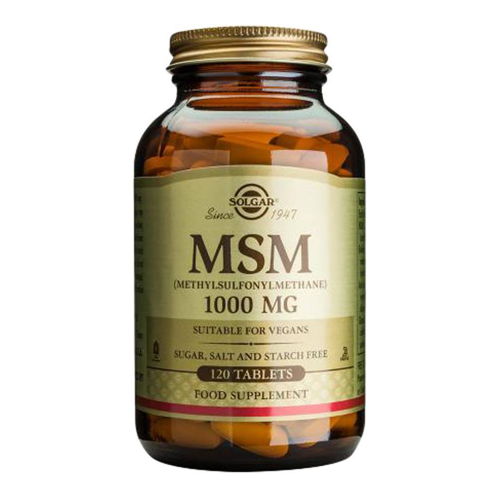 VMS - Solgar MSM 1000 Mg 120 Tablets