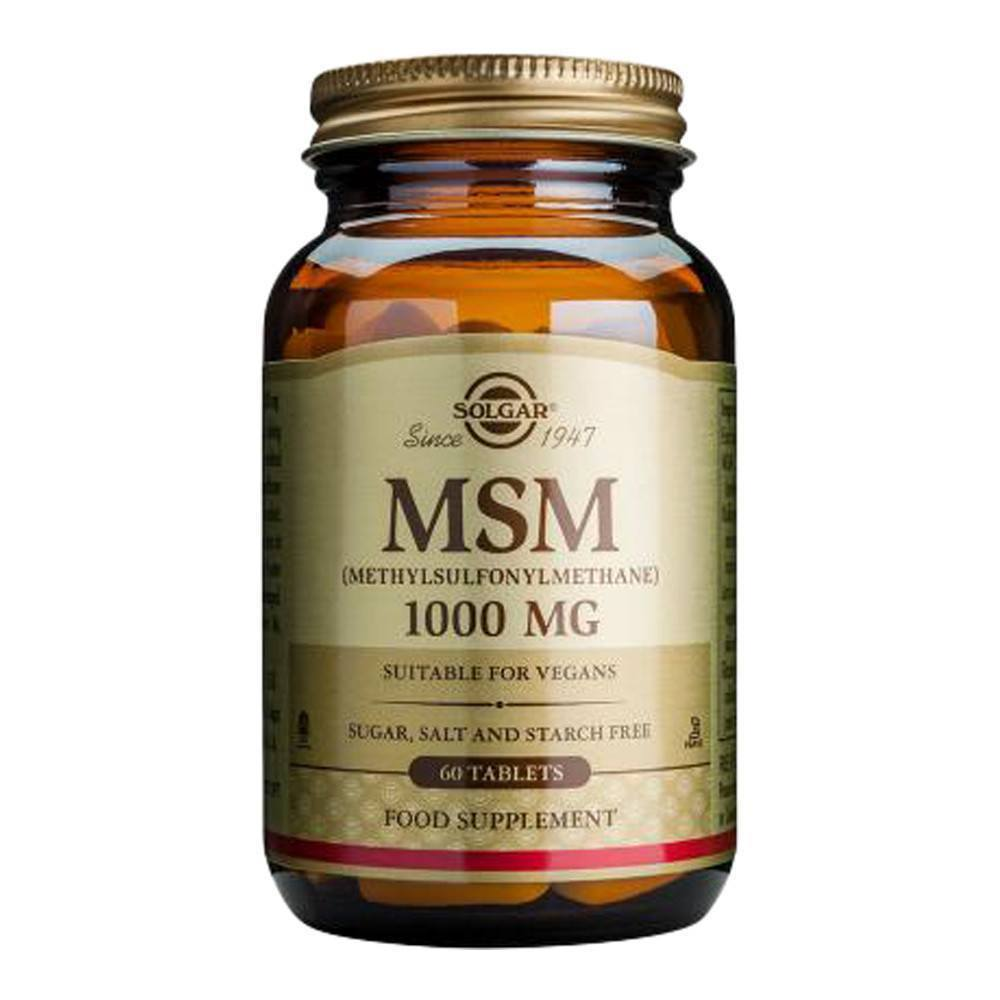 VMS - Solgar MSM 1000 Mg 60 Tablets